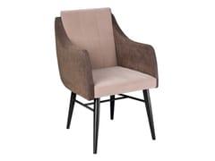 Sedia in tessuto con braccioliMAGENTA | Sedia con braccioli - ALMA DESIGN