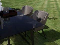 Sedia da giardino in fibra sintetica con braccioli MOOD | Sedia con braccioli - Mood