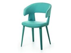 Sedia imbottita in tessuto con braccioliPATH | Sedia con braccioli - BROSS ITALIA
