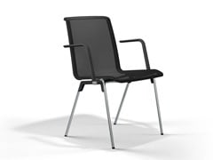 Sedia impilabile in rete con braccioliHERO PLUS | Sedia con braccioli - BRUNNER