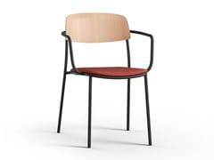 Sedia in acciaio con braccioliNATE S | Sedia con braccioli - BRUNNER