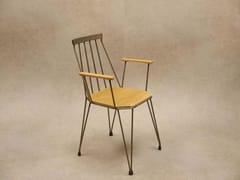 Sedia in legno con braccioli con schienale apertoTEIA   Sedia con schienale aperto - DADRA