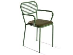 Sedia in ferro con braccioli con cuscino integratoMAR   Sedia con braccioli - DADRA