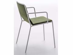 Sedia imbottita in tessuto con braccioli TRES | Sedia con braccioli - Tres