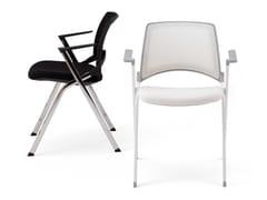 Sedia impilabile in rete con braccioliLAKENDÒ NET SOFT | Sedia con braccioli - DIEMMEBI