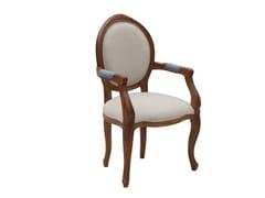 Sedia con braccioliMOZAIC - NOCE | Sedia con braccioli - IL GIARDINO DI LEGNO