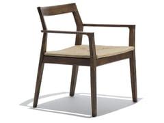 Sedia in legno con braccioliMARC KRUSIN | Sedia con braccioli - KNOLL INTERNATIONAL