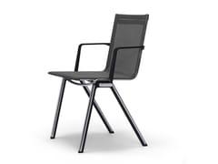 Sedia impilabile con braccioli BLAQ | Sedia con braccioli - Blaq