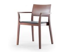 Sedia in legno massello con braccioli BONNIE | Sedia con braccioli - Bonnie