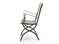 Sedia da giardino pieghevole in metallo con braccioli SUMMERTIME | Sedia con braccioli - Summertime