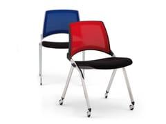 Sedia impilabile in rete con ruoteLAKENDÒ NET SOFT | Sedia con ruote - DIEMMEBI