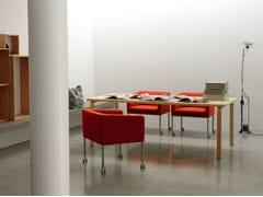 Sedia sfoderabile in tessuto con ruote CUBICA | Sedia con ruote - Cubica