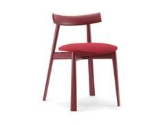 Sedia in legno con cuscino integrato REMO | Sedia con cuscino integrato - Remo