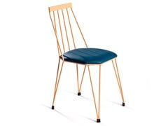 Sedia in ferro con cuscino integratoTEIA   Sedia con cuscino integrato - DADRA