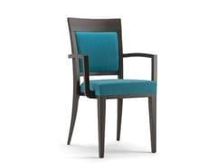 Sedia impilabile in legno massello e tessuto ATLANTA | Sedia impilabile - Atlanta