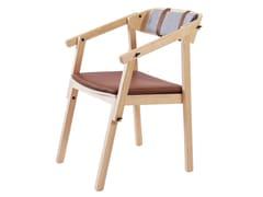 Sedia impilabile in pelle con cuscino integratoATELIER | Sedia - ASKIA