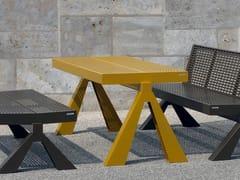 Tavolo per spazi pubblici rettangolare in acciaio inoxCHALIDOR 1400 | Tavolo per spazi pubblici - BENKERT BÄNKE