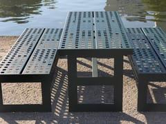 Tavolo per spazi pubblici rettangolare in acciaio inoxCHALIDOR 300 | Tavolo per spazi pubblici - BENKERT BÄNKE