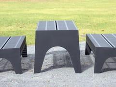 Tavolo per spazi pubblici rettangolare in acciaio inoxCHALIDOR 500 | Tavolo per spazi pubblici - BENKERT BÄNKE