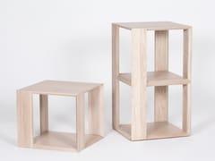 Libreria / tavolino in legno impiallacciatoCHAMFER | Tavolino quadrato - ASPLUND