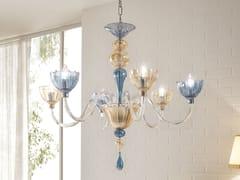 Lampadario a luce indiretta in vetro soffiatoCOLOR | Lampadario - CANGINI & TUCCI