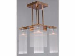 Lampadario a luce diretta fatta a mano in ottone HOFFMANN I | Lampadario - Hoffmann