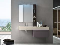 Mobile lavabo sospeso con cassetti CHANGE 208 - Change