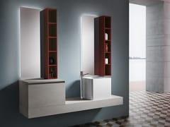 Mobile lavabo sospeso con cassetti CHANGE 214 - Change