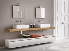 Piano lavabo / mobile bagno in legno CHANGE 215 - Change