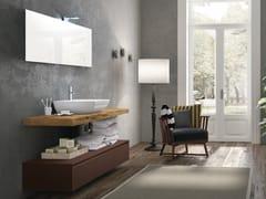 Piano lavabo / mobile bagno in legno CHANGE 216 - Change