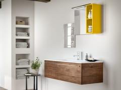 Mobile lavabo sospeso con cassetti CHANGE 220 - Change