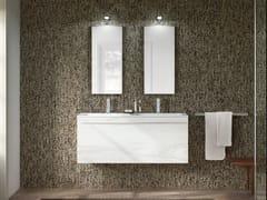 Mobile lavabo doppio in stile moderno con cassetti con specchio CHANGE 368 - Change