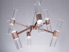 Lampadario a LED in vetro soffiatoCHAOS 04 - PATRIZIA GARGANTI