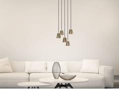 Lampada a sospensione a LED in ottone CHAPLIN 5   Lampada a sospensione - Chaplin