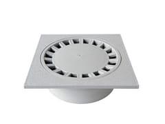 Chiusino sifonato in PVC grigio con scarico verticaleCHAPVC25G - FIRST CORPORATION