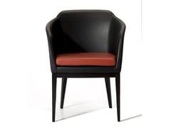 Sedia in pelle con braccioliCHARLOTTE | Sedia con braccioli - CDHC PRODUCTIONS