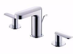 Rubinetto per lavabo a 3 fori da piano in ottone cromato CHARMING | Rubinetto per lavabo a 3 fori - Charming
