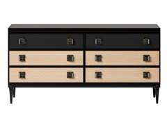 Cassettiera in legno impiallacciato e metalloSESTO SENSO | Cassettiera - CIAC-EXPORT