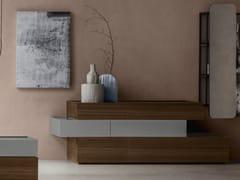 Cassettiera in rovere con maniglie integrateNIGHT MOOVE | Cassettiera - TOMASELLA IND. MOBILI