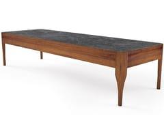 Tavolino basso rettangolare in legno massello CHIARA | Tavolino rettangolare - Oliver B. Casa