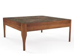 Tavolino basso quadrato in legno massello CHIARA | Tavolino quadrato - Oliver B. Casa