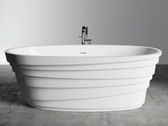 Vasca da bagno ovale in Solid SurfaceCHIC - RILUXA
