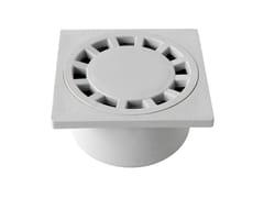 Chiusino sifonato in PP grigio con scarico verticaleCHPP10G - FIRST CORPORATION