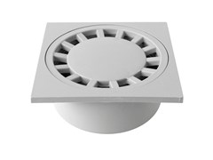 Chiusino sifonato in PP grigio con scarico verticaleCHPP15G - FIRST CORPORATION