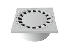 Chiusino sifonato in PVC grigio con scarico verticaleCHPVC20G - FIRST CORPORATION