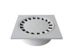 Chiusino sifonato in PVC grigio con scarico verticaleCHPVC25G - FIRST CORPORATION