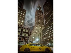 Stampa fotograficaCHRYSLER BUILDING AND YELLOW CAB - ARTPHOTOLIMITED