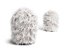 Pouf rotondo in pelliccia sintetica CHUMMY FRIZZY | Pouf - Chummy Frizzy