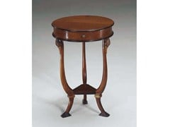 Tavolino rotondo in legno massello CIGNO - Canaletto