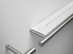Porta asciugamani / mensola in acciaio inox e CristalplantCILINDRO | Porta asciugamani - FALPER